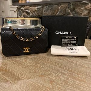 Authentic Vintage CHANEL Small Flap Bag 19